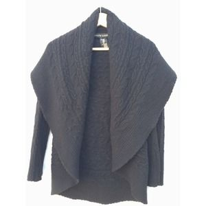 Ralph Lauren Black Shawl Collar Open Cardigan Smal